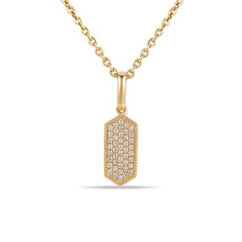 Delicate Hexagon shape Diamond Pendant 0.07C TW