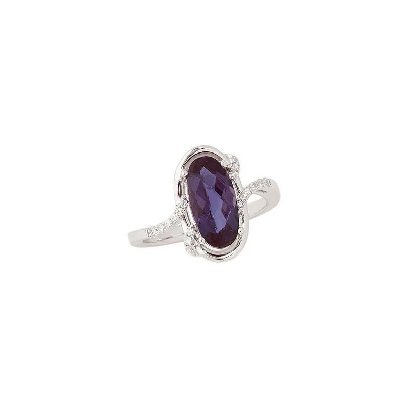 Chatham Alexandrite Ring-CR8256WAL