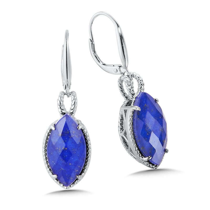 Colore Sg Sterling Silver Lapis Fusion Leverback Earrings