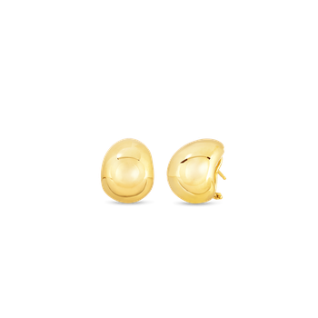 18KT GOLD DOMED EARRINGS