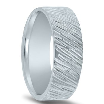 N17183 Men's Wedding Band with Organic Finish