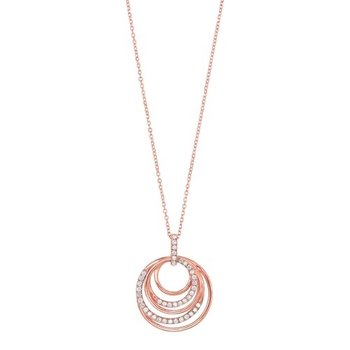 Eternity Diamond Pendant in 14K Rose Gold (1/4 ct. tw.)