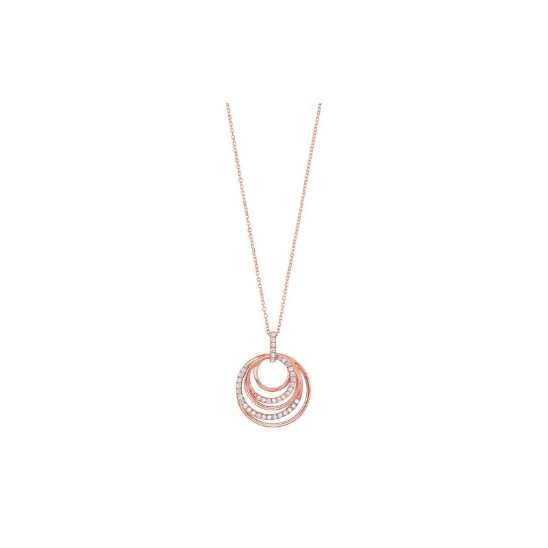Gems One Eternity Diamond Pendant in 14K Rose Gold (1/4 ct. tw.)