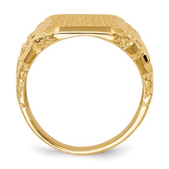 14k 14 x 15 mm Open Back Men's Signet Ring
