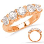 S. Kashi  & Sons Rose Gold Prong Set Band