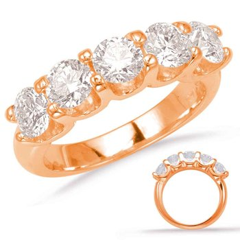 Rose Gold Prong Set Band