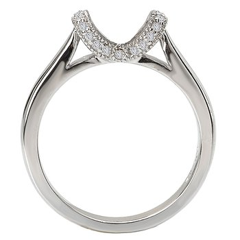 No Peg Head Diamond Ring