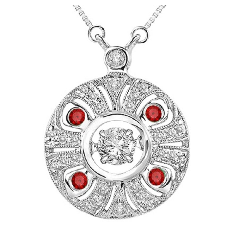 Rhythm of Love 14K Ruby & Diamond Rhythm Of Love Pendant