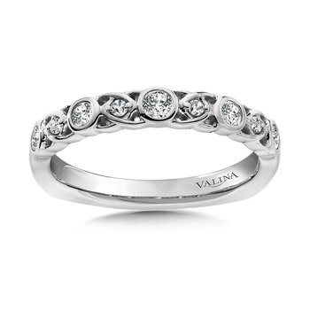 Stackable Wedding Band in 14K White Gold (.24 ct. tw.)