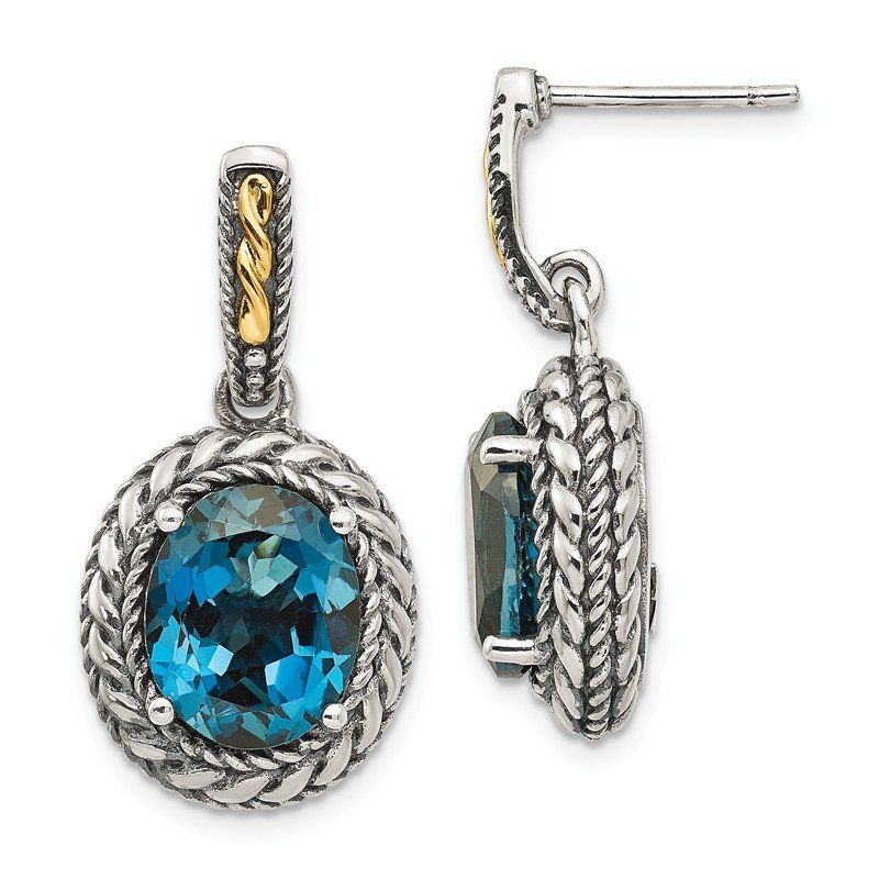 Shey Couture Sterling Silver w/14k London Blue Topaz Earrings