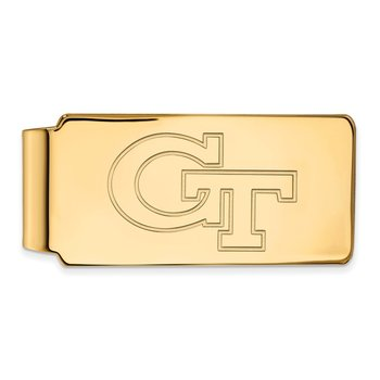 Gold-Plated Sterling Silver Georgia Institute of Technology NCAA Money Clip