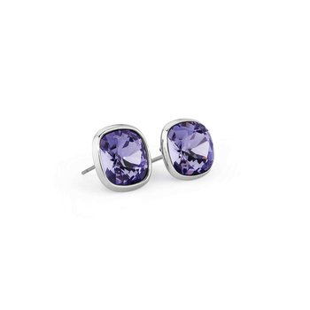 316L stainless steel and tanzanite Swarovski® Elements.