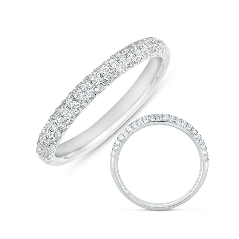 S. Kashi & Sons Bridal Platinum Pave Band