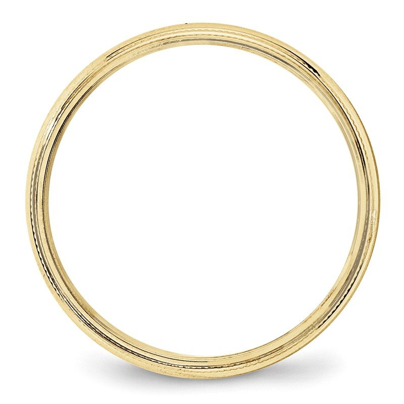 Quality Gold 10KY 4mm LTW Milgrain Half Round Band Size 10
