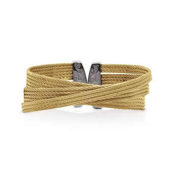 Yellow Cable Twist Cuff