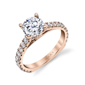 MARS 26562 Diamond Engagement Ring 0.52 Ctw.