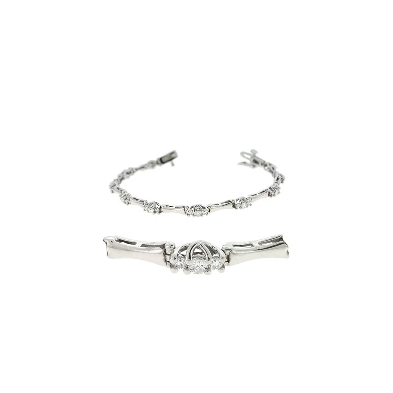 S. Kashi  & Sons Three Stone Diamond Bracelet