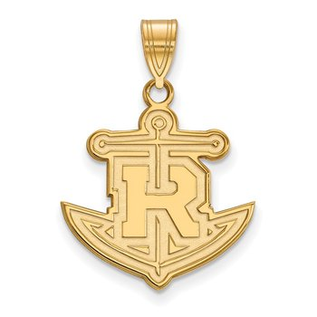 Gold Rollins College NCAA Pendant