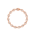 Roberto Coin 18Kt Gold Oval Link Bracelet With Diamonds