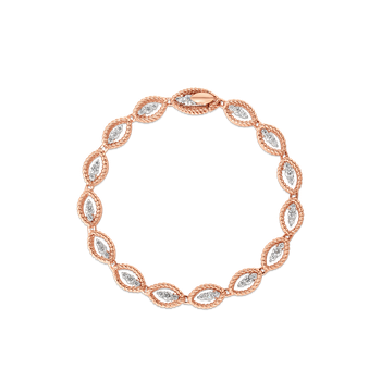 18KT GOLD OVAL LINK BRACELET WITH DIAMONDS