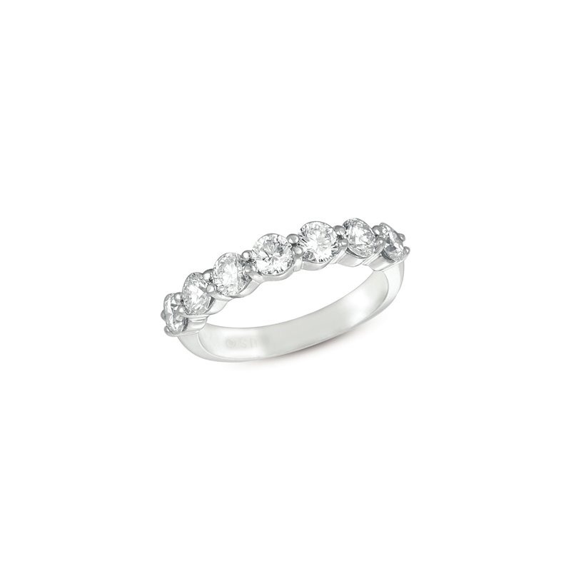 MAZZARESE Bridal White Gold Prong Band