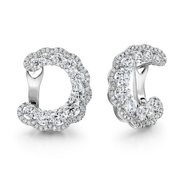 3.35 ctw. Aurora Hoop Earrings