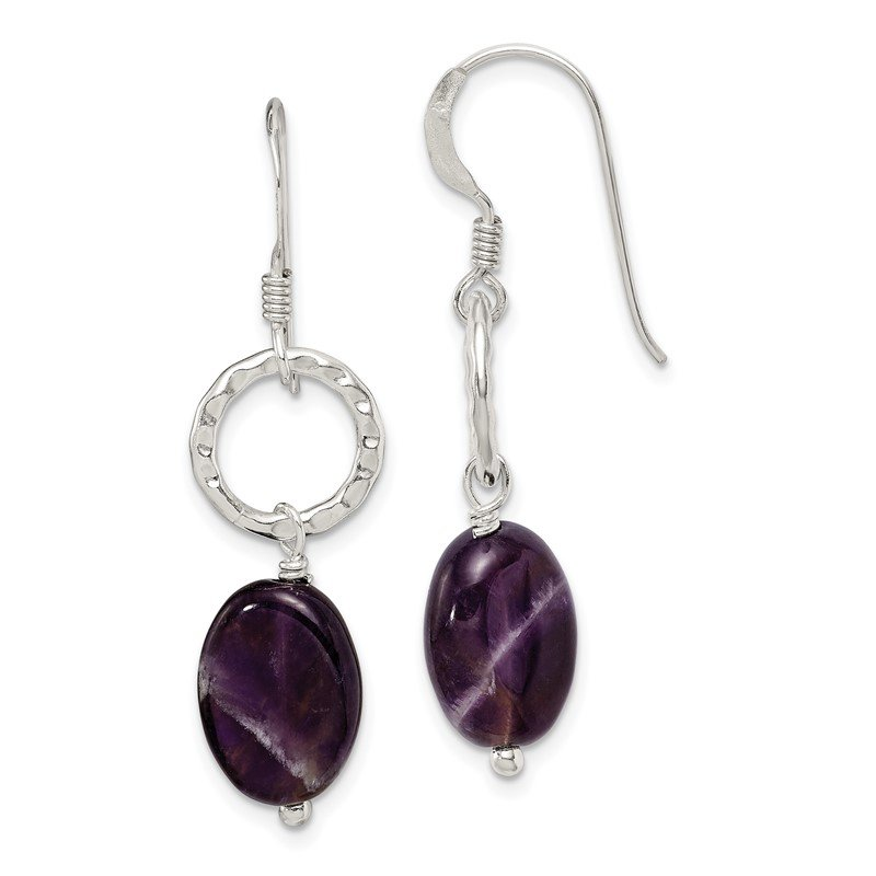 Quality Gold Sterling Silver Amethyst Earrings