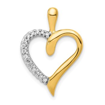 14k 1/10ct. Diamond Heart Pendant