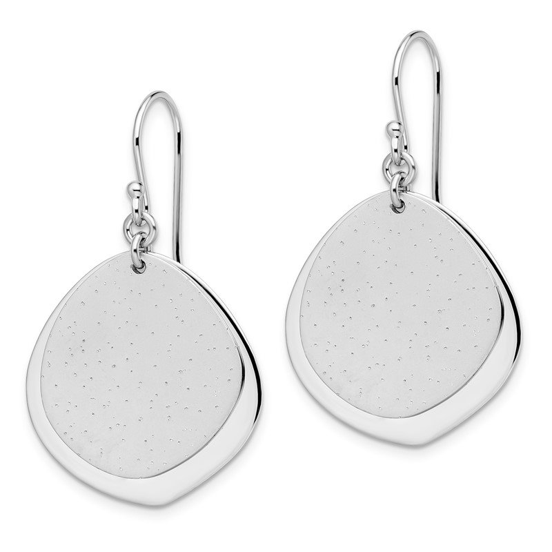 Leslie's Leslie's SS Rhodium-plated Radiant Essence Polished Earrings