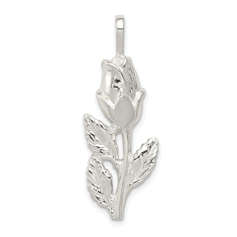 Quality Gold Sterling Silver Rose Bud Pendant