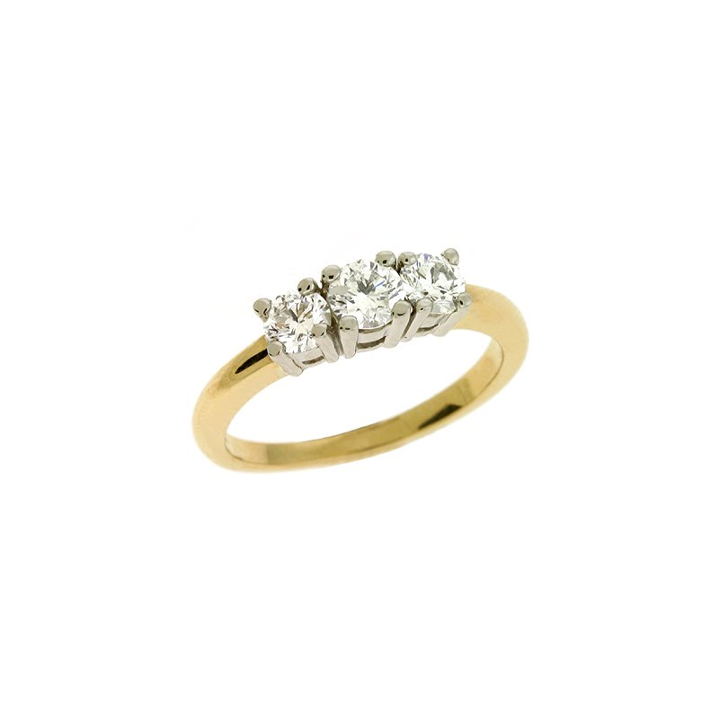 S. Kashi  & Sons Three Stone Ring
