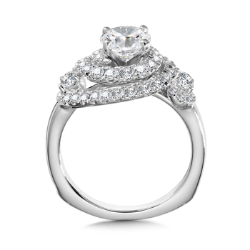 Diamond Engagement Ring Mounting in 14K White Gold (1.02 ct. tw.)
