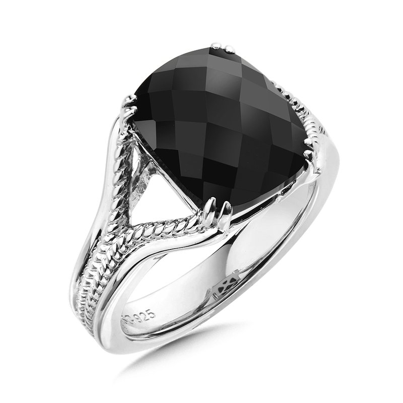 Colore Sg Sterling Silver Onyx Ring