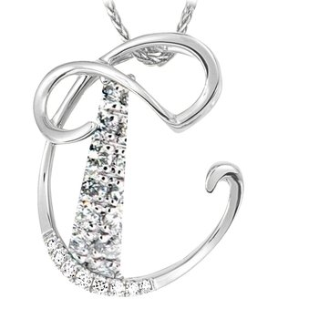 Initial Pendant - Chatham Lab-Grown Diamonds