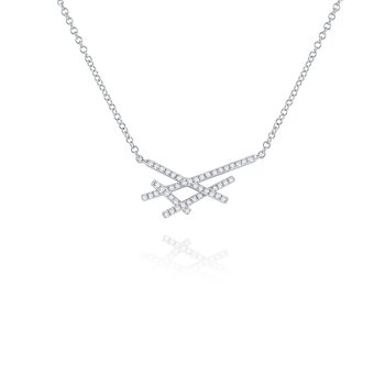 Diamond Intersection Necklace Set in 14 Kt. Gold