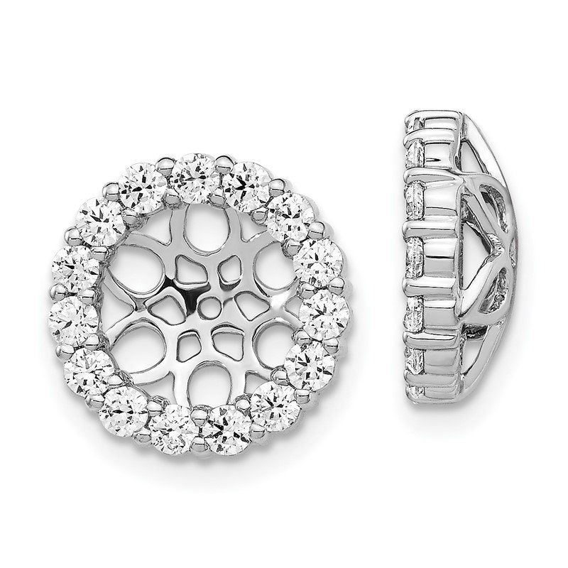 Quality Gold 14k White Gold Diamond Earring Jackets
