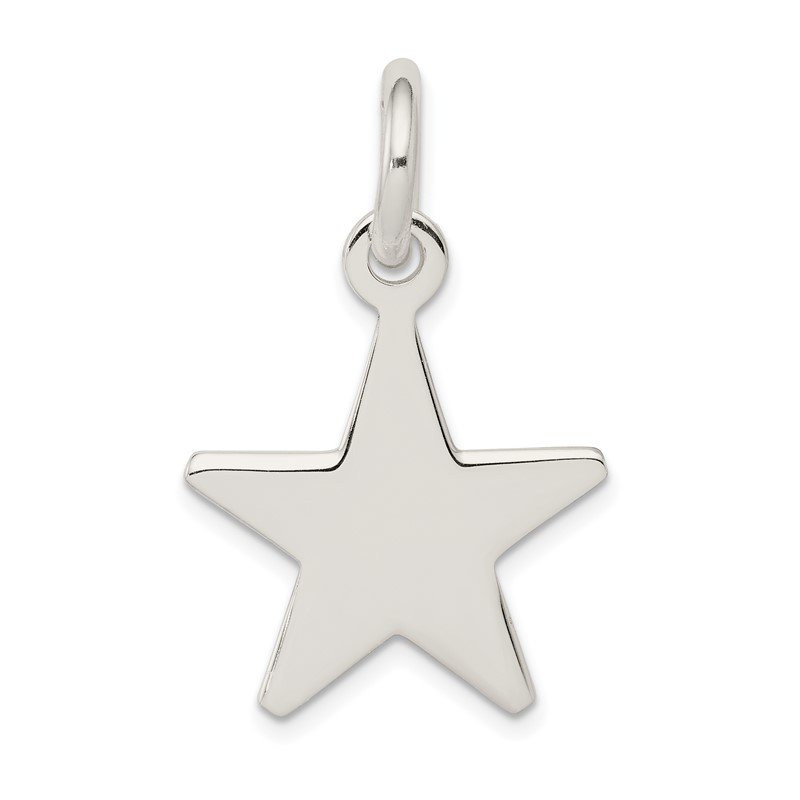 Quality Gold Sterling Silver Star Pendant