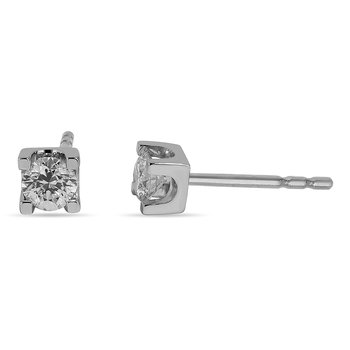 14K WG and diamond Stud earring in prong setting (0.33cts)