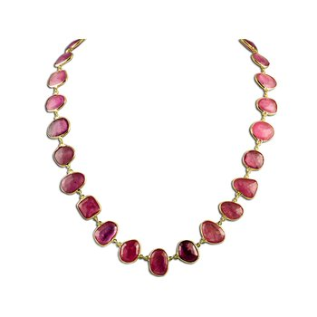African Pink Sapphire Necklace