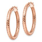 Leslie's Leslie's 14K ForeverLite Rose Gold Polished and Textured Earrings