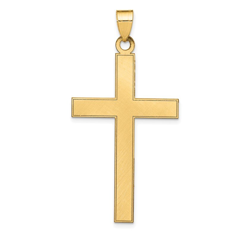 Quality Gold 14k Florentine Satin Cross Pendant