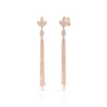 Rose Gold Dangling Tassel Earrings