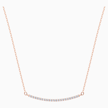 Only Necklace, White, Rose-gold tone plated