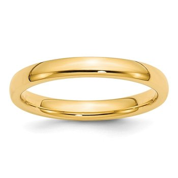 14k 3mm Comfort-Fit Band
