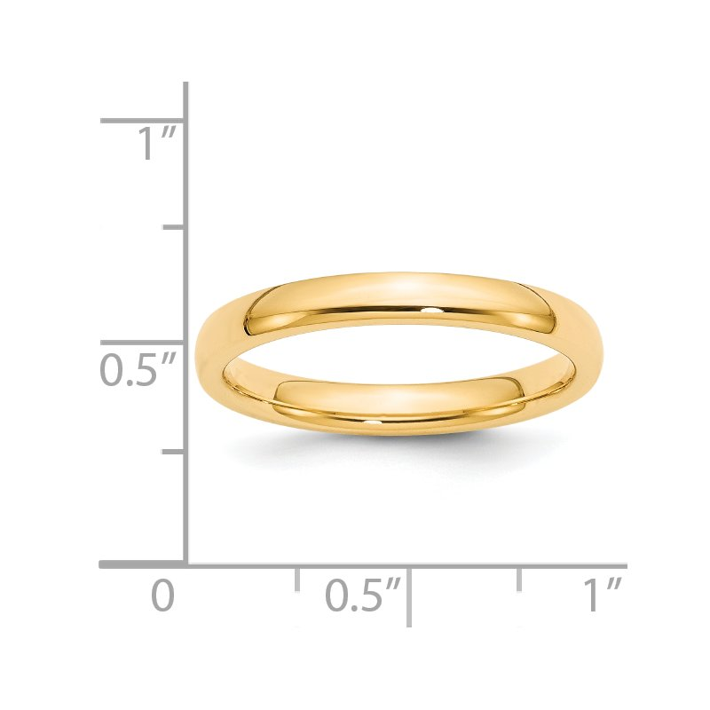 Quality Gold 14k 3mm Comfort-Fit Band