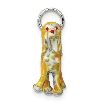 Sterling Silver Enameled Small Cocker Spaniel Charm