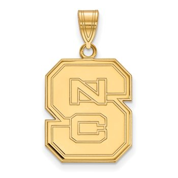 Gold-Plated Sterling Silver North Carolina State University NCAA Pendant