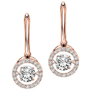 14K Diamond Rhythm Of Love Earrings 2 1/2 ctw