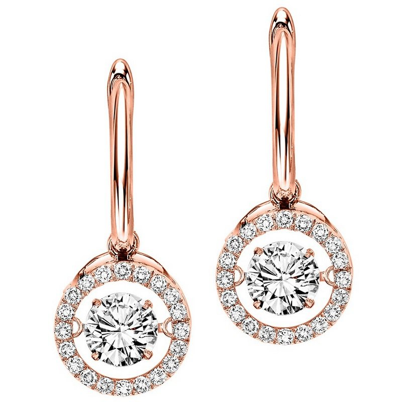 Necker's Signature Collection 14K Diamond Rhythm Of Love Earrings 2 1/2 ctw
