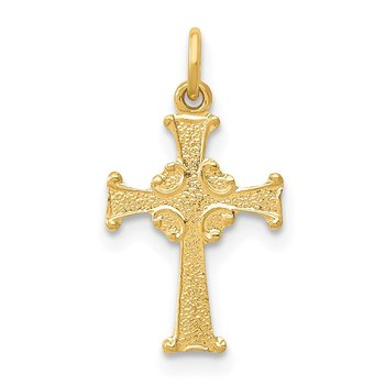 14k Celtic Cross Charm